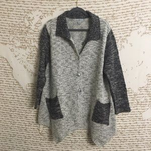 WindiRiver Chunky Knit Color Block Cardigan